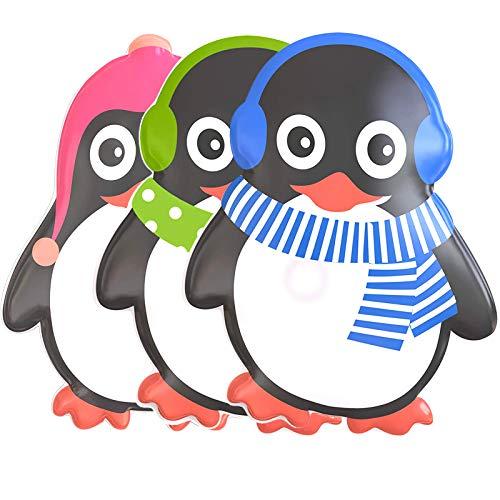Hook Taschenwärmer Handwärmer Pinguin Kinder [3er Set] Taschen Wärmer Übergroß Wiederverwendbar Handwärmer Knick Langanhaltende Wärme für kalte Hände für Unterwegs (Green)