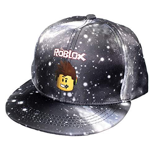 R-timer Roblox - Gorra de béisbol con diseño de cielo estrellado, ajustable, para hombres y mujeres, niños y niñas Negro Talla única