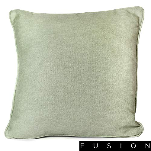 Fusion Sorbonne, 100% Cotton, Green, Cushion Cover: 43 x 43cm