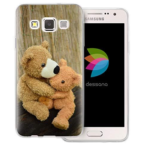 dessana Teddys transparante beschermhoes mobiele telefoon case cover tas voor Samsung Galaxy A J, Samsung Galaxy A3 (2014-2015), Knuffelende teddy's.