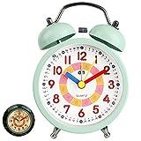 Despertador analógico para niños,Relojes de alarma silenciosos para...