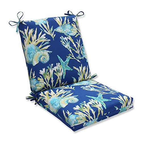 Pillow Perfect OutdoorIndoor Daytrip Pacific Blue Square Corner Chair Cushion 36.5