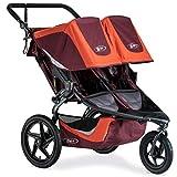 BOB Revolution Flex 3.0 Duallie Jogging Stroller - Up to 100 Pounds - UPF 50Plus Canopy - Adjustable Handlebar - Easy Fold, Sedona Orange