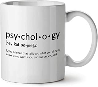 SJuczi Psychology Science Ceramic Mug, Funny Cup - Large, Easy-Grip Handle, Two Side Print, Ideal for Coffee & Tea Drinkers, Made by