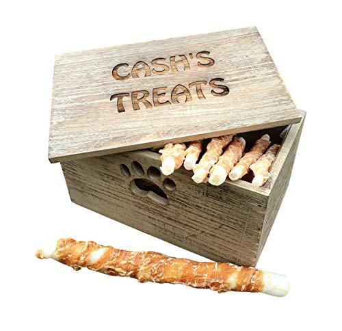 Personalised Wooden Dog Treat Box from Hoolaroo