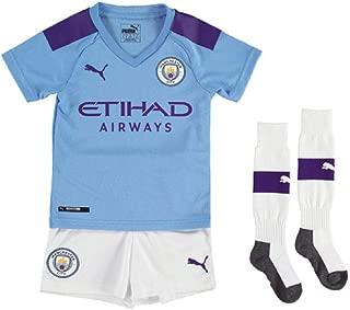 PUMA 2019-2020 Manchester City Home Little Boys Mini Kit