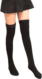 Womens Over Knee Leg Warmers Winter Thick Fleece Lined Elastic Socks Tights