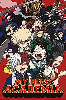 Trends International Hero Academia-Key Art 2 Wall Poster 22.375  x 34  Unframed Version