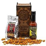 Psycho Juice El | Dark Arts - Set de regalo de salsa de chile y frutos secos de madera | 70% chile habanero | 148 ml | nueces psicópatas cubiertas de Naga