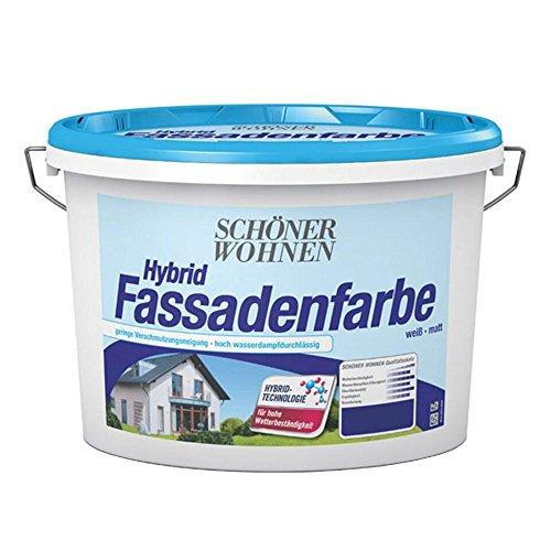 Hybrid Fassadenfarbe Weiss 2,5 L Matt Schoener Wohnen