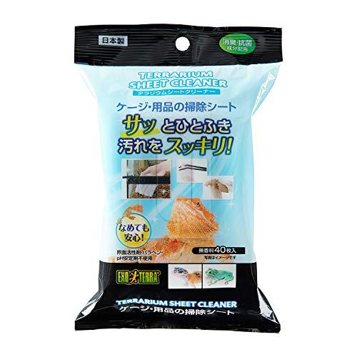 GEX EXOTERRA テラリウムシートクリーナー ウェットティッシュ 爬虫類ケージ・用品のお掃除用 40枚入