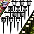 Meykers Solar Lights Outdoor Decorative for Garden Patio Landscape Path Pathway Yard Driveway at Night - Solar Powered Lanterns Stake LED Lighting Outside Decor Waterproof - 12 Pack Warm White