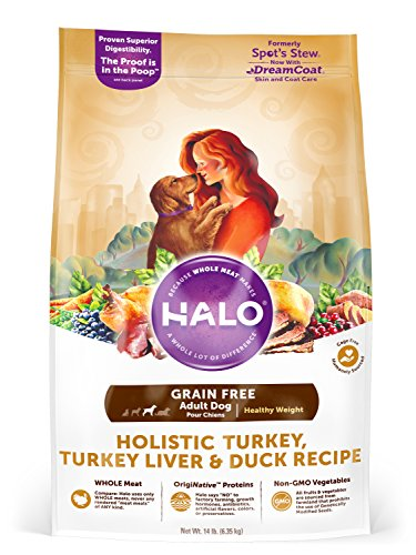 Halo Grain Free Natural Dry Dog Food, Healthy...