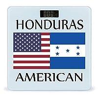 ホンジュラスのアメリカ国旗 LCDディスプレイ付き高精度スマートフィットネススケール体重デジタルバスルームボディスケール