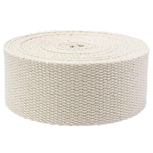DTKJ Correas de correas para bolsas,Correas de algodón para correas de bolsa de 25 mm, cinta de algodón de 50 mm, 10 yardas/lote, beige, 25 mm,