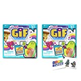 Oh My GIF 1 Bit Blind Mystery Animated Figurines (2 Pack) with 2 GosuToys Stickers