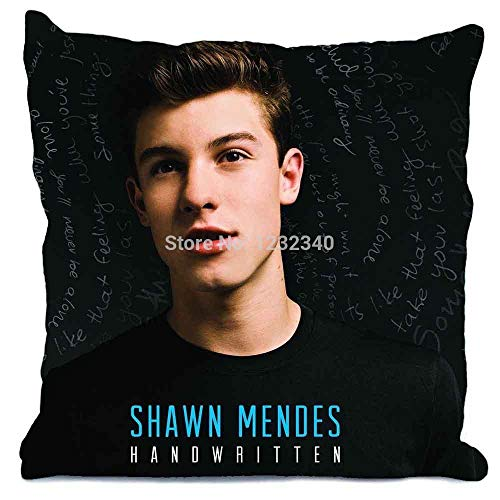 ooPIN Bling For You Handwritten Shawn Mendes Style Throw Pillo WCase Pillowcases CUSTOM Twin Sides Home Car Cushion Cover
