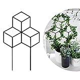 Seway Garden Metall Spalier Gitterform Pflanzengitter für DIY Topfpflanzen Kletterpflanzen Unterstützung Blume Gemüse Rose Rebe Erbsen Efeugurken Eisen Metall Weiß - 26,9 cm B x 43,2 cm H.