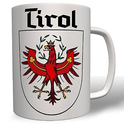 Tirol Wappen Geschenk Andenken Heimat roter Adler Süd Tirol Tiroler Österreich Italien Alpen Berge Urlaub Abzeichen- Tasse Becher Kaffee #7663