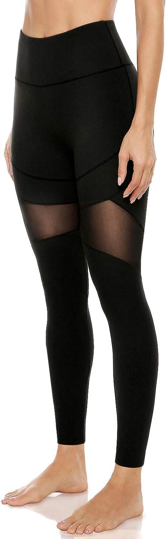 Direct sale of manufacturer 2021 JOYSPELS Mesh Yoga Pants with Workout High Legging Pockets Waist