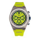 Otumm Big Date - Reloj cronógrafo unisex (45 mm, con correa verde)