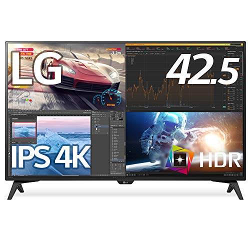 LG モニター ディスプレイ 43UN700T-B 42.5インチ/4K/HDR対応/IPS非光沢/HDMI×4,DP,USB Type-C/スピーカー/ブルーライト低減、フリッカーセーフ/リモコン付属