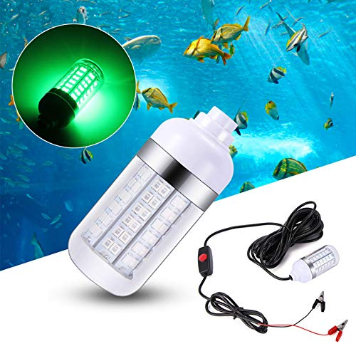OurLeeme Luces de Pesca Debajo del Agua, 12V LED Verde Sumergible para...