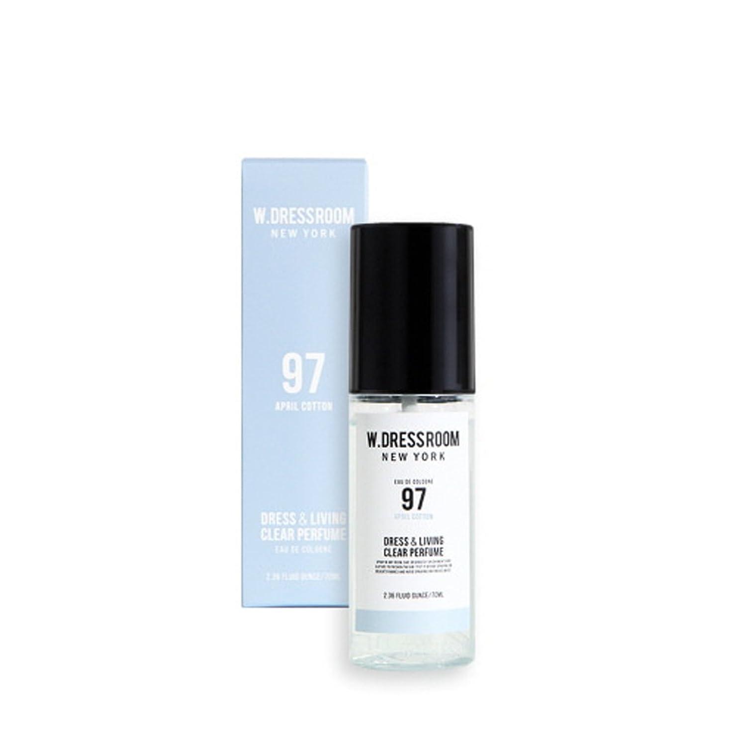 生態学安定ヒゲクジラW.DRESSROOM Dress & Living Clear Perfume 70ml (#No.97 April Cotton)/ダブルドレスルーム ドレス&リビング クリア パフューム 70ml (#No.97 April Cotton) [並行輸入品]