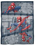 Marvel Spiderman Web Weighted Blanket 4.5 lbs - Measures 36 x 48 inches, Kids Bedding - Fade Resistant Super Soft Velboa - (Official Marvel Product)