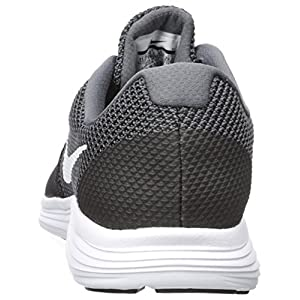 NIKE Men's Revolution 3 Running Shoe, Dark Grey/White/Black, 10.5 4E US