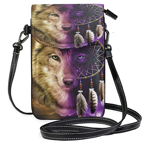 XCNGG bolso del teléfono Wolf Cell Phone Purse Wallet for Women Girl Small Crossbody Purse Bags