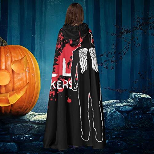 AISFGBJ The Walking Dead Daryl Armbrust Unisex Weihnachten Halloween Hexe Ritter Kapuzenmantel Vampir Umhang Umhang Cosplay Kostüm
