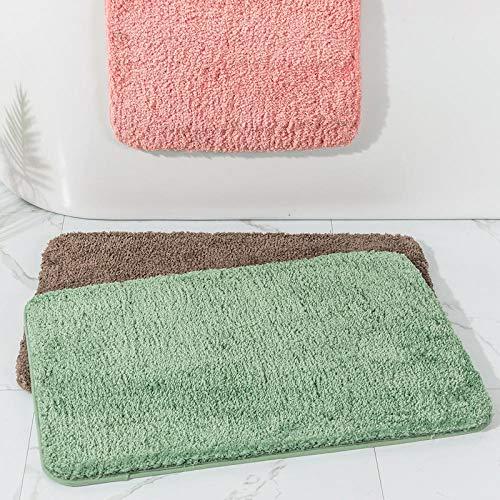 ZXCN Alfombra de Baño Antideslizante Pies Cómodos de Felpa Gruesa Alfombrilla de Baño Microfibra 40×120cm Verde