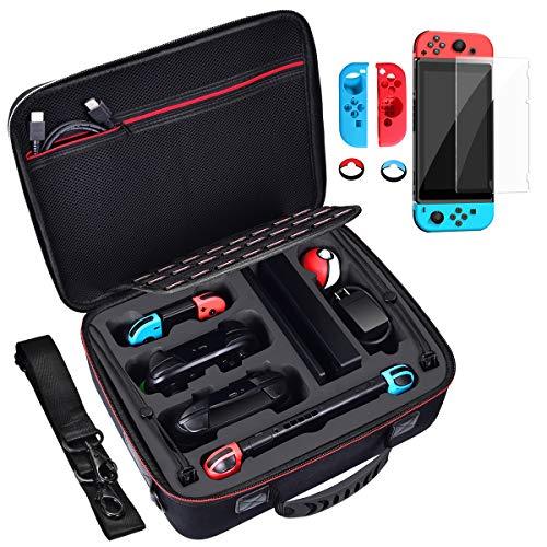Diocall Nintendo Switch Case, Tasche für Pro Controller und Pokeball Plus, Nintendo Switch 4 In 1 Zubehör Set
