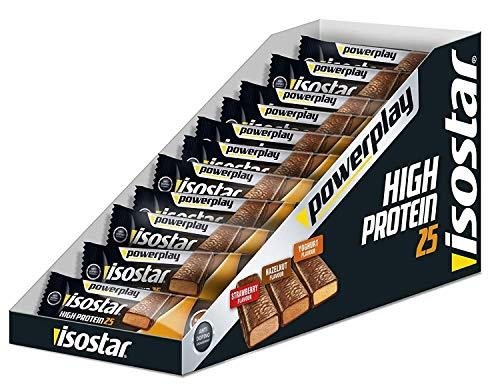 Isostar Powerplay High Protein - Barrette di fragola, confezione da 15 (15 x 35 g)