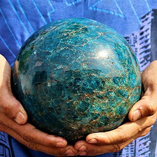 YANFANG Exquisite große natürliche Blaue Apatit-Kristallquarz-Steinkugel (Size : 65 70mm)