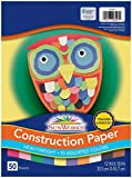 SunWorks Construction Paper, 10 Assorted Colors, 12' x 18', 50 Sheets
