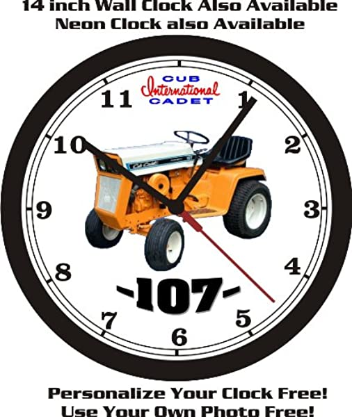 INTERNATIONAL CUB CADET 107 WALL CLOCK FREE USA SHIP