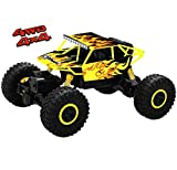 Top Race Telecomando Monster Truck RC Rock Crawler, trasmettitore 2.4Ghz, 4WD Off Road RC Car - TR-130Y