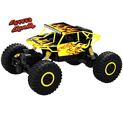 Top Race Ferngesteuerter Monster Truck RC Rock Crawler, 2,4 GHz Sender, 4WD Off Road RC-Auto - TR-130Y