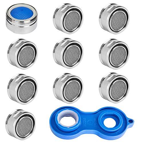 Preisvergleich Produktbild 10 Stück Strahlregler M24,  Wasserhahn sieb Einsatz,  Mischdüse mit Edelstahl Filter inkl. Mischdüsenschlüssel für Wasserhähne