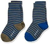 ESPRIT Unisex Kinder Sporty Stripe 2-Pack Socken, blau (petrol blue 6493), 35-38 (2er Pack)