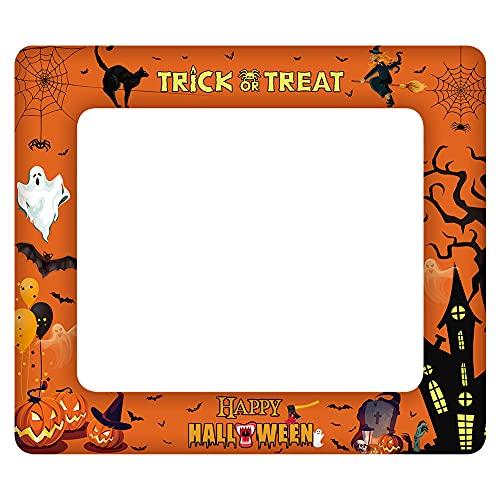 Cornice per foto di Halloween Cornice per selfie guidata Cornice per foto Selfie Booth Cornice per mago Prop Decorazioni per cornici per foto per feste di compleanno di Halloween per bambini