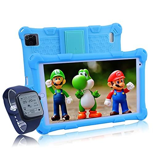 Tablet per Bambini 8 Pollici,IBALKLINE 4G LTE TABLET,Android 10.0,Otto core,4GB RAM + 64GB ROM,Supporta youtube, Disney+, tiktok, dotate di orologio intelligente per bambini