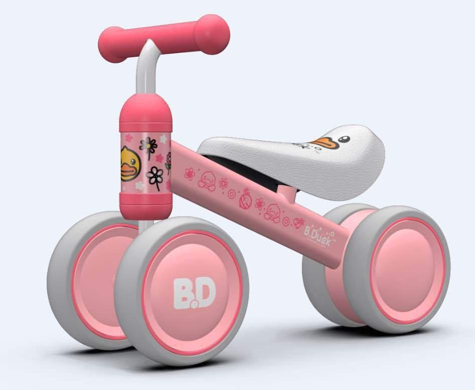 致暖Warmest 儿童平衡车 婴儿滑行学步车 宝宝周岁生日礼物 乐的系列扭扭车 (粉色小黄鸭)