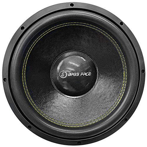 """BASS FACE SPL15.2.2S SPL 15.2.2S subwoofer sub 380 mm 38,00 cm 15"""" dvc 2+2 ohm 2100 watt rms 4200 watt max doppia bobina 2 + 2 ohm dvc dual voice coil cofano bagagliaio auto gare spl"""