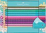 Faber-Castell 201641 - Geschenkset Sparkle, 20 Buntstifte und Eine Sleeve Spitzdose Mini -