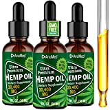 (3-Pack) Anumed 24,000 MG Hemp Oil Drops for Anxiety, Stress Relief. Improves Restful of Sleep, Mood, Healthy Heart, Immunity Booster. All Natural Organic Hemp Seed Extract. Grown and Made in The USA