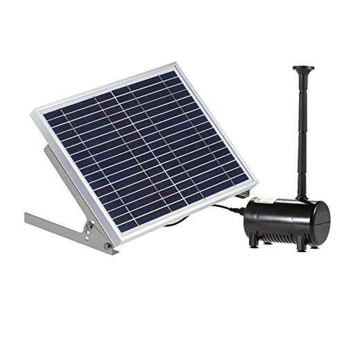 Anself 17V 10W Solar Teichpumpe Bürstenlose Brunnen Wasserpumpe mit 6 Verschiedenen Brunnendüsen