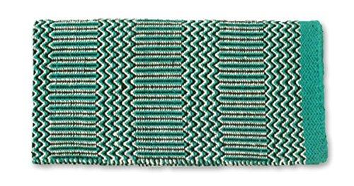 Mayatex Ramrod Doubleweave Saddle Blanket, Teal/Black/Cream, 32 x 64-Inch